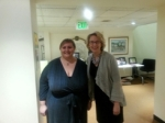 Pro bono attorney Sara Gross (left) and HPRP executive director Antonia Fasanelli